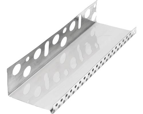 Profilé de socle acier inoxydable 83mm longueur:2.50m