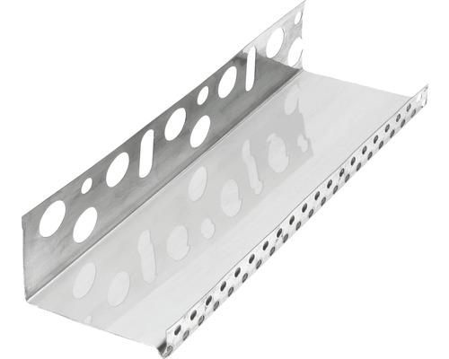 Profilé de socle acier inoxydable 123mm longueur:2.50m