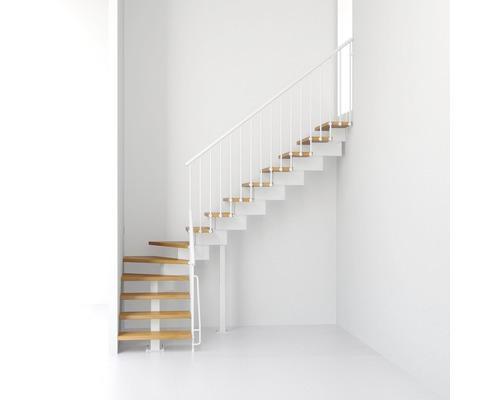 Escalier à crémaillère Pertura Aliki L 11 marches l 70cm blanc/clair