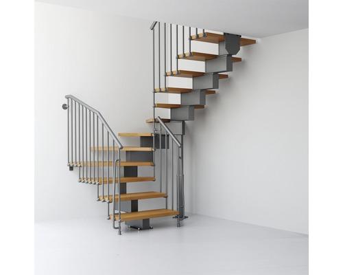 Escalier à crémaillère Pertura Aliki U 11 marches l 70cm gris/clair