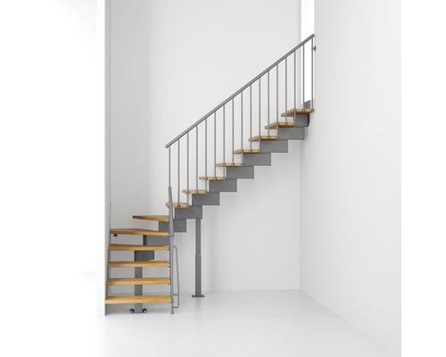 Escaliers à limon central