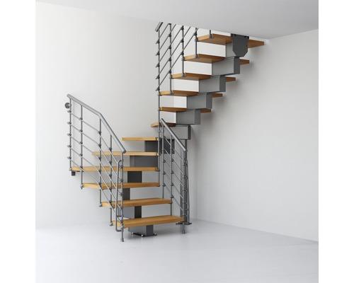 Escalier à crémaillère Pertura Aliki Oak Xtra U 11 marches l 70cm gris/clair