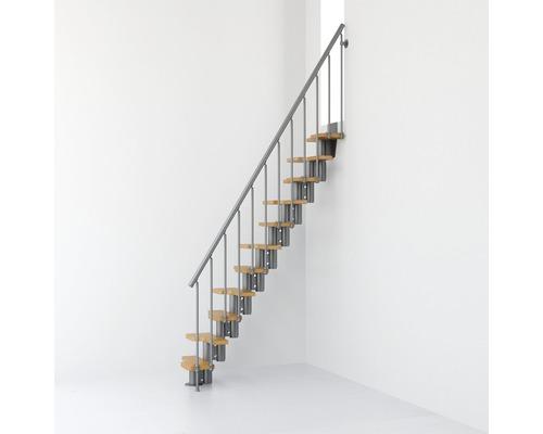 Escalier à crémaillère Pertura Kimon Oak 11 marches gris/clair