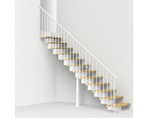 Escalier à crémaillère Pertura Aliki Oak G 11 marches l 70cm blanc/clair