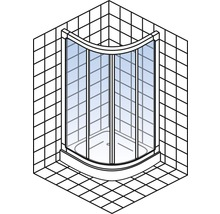 Runddusche Schulte Kristall/Trend R550 80x80 cm Klarglas Profilfarbe chrom-thumb-1