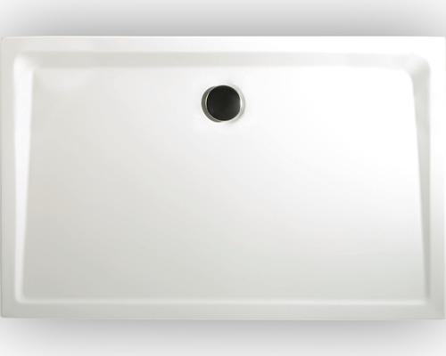 Extraflache Duschwanne Schulte 90x100x3,5 cm D209010 04 weiß inkl. Wannenfüße und Ablaufgarnitur