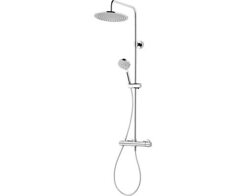 Duschsystem Schulte Modern plus DuschMaster Rain Ill D969270 02 extra-flache Kopfbrause chrom mit Thermostat