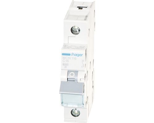 Disjoncteur Hager MCN116 16A C 1 pôles