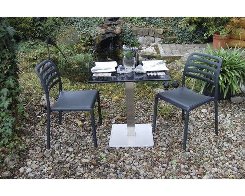 gartenmöbel-set nardi costa bistrot granit-kunststoff 3-teilig, Gartenmöbel