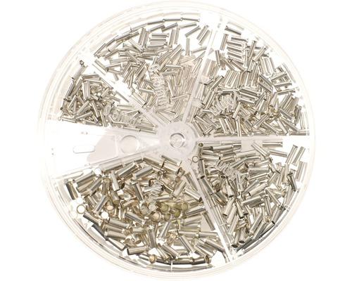 Boîte de cosses assortiment nues 500 pièces Haupa