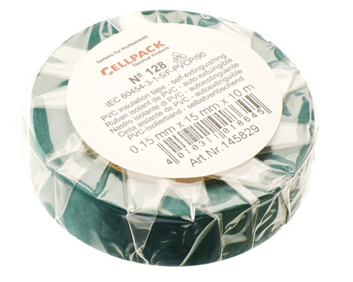 Ruban isolant PVC vert 15 mm x L 10 m Cellpack