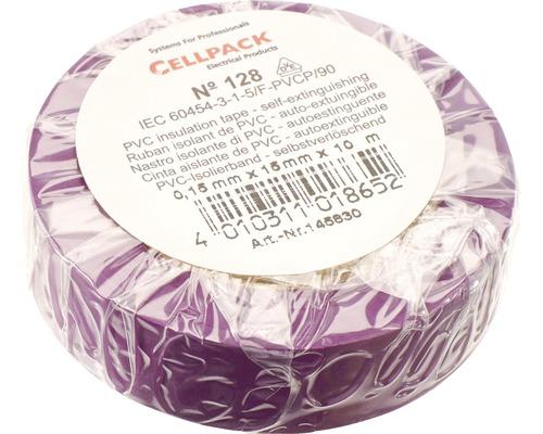 Ruban isolant PVC violet 15 mm x L 10 m Cellpack
