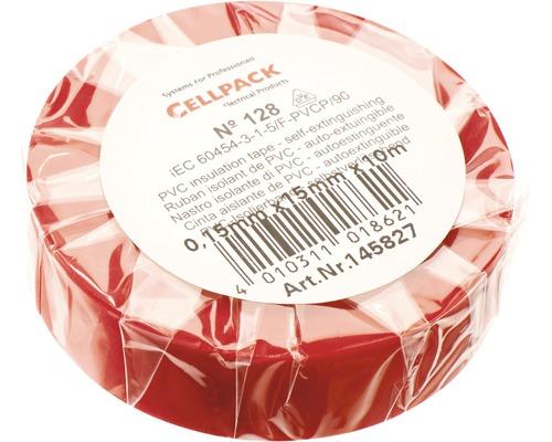Ruban isolant PVC rouge 15 mm x L 10 m Cellpack