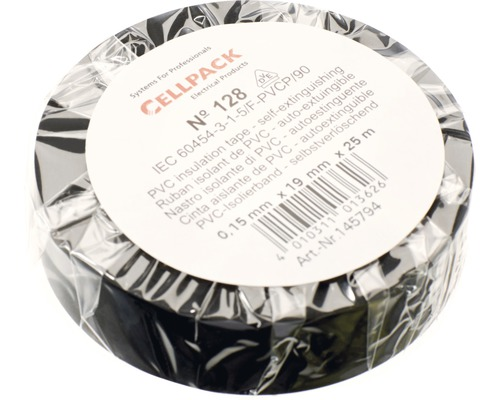Ruban isolant PVC noir 19 mm x L 25 m Cellpack
