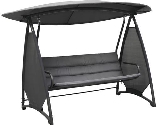 Hollywoodschaukel modern  Hollywoodschaukel Modern Textilgewebe 3-Sitzer anthrazit ...