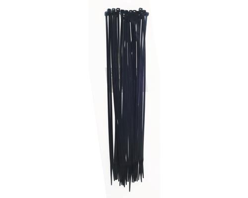 Collier plastique résistant aux UV noir 203x2.5 mm 100 pièces Haupa