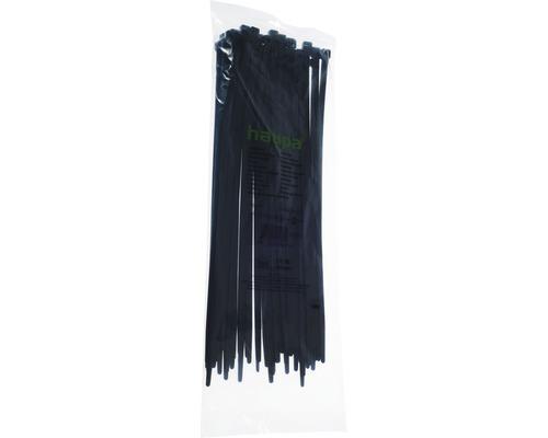 Serre-câbles résistant aux UV 450x8mm 50 pièces noir