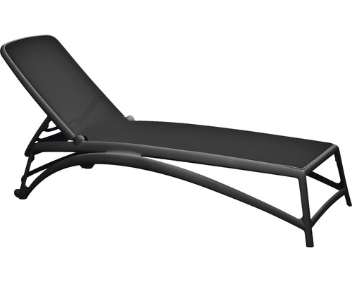 Chaise longue de jardin Nardi Atlantico tissu textile, anthracite ...