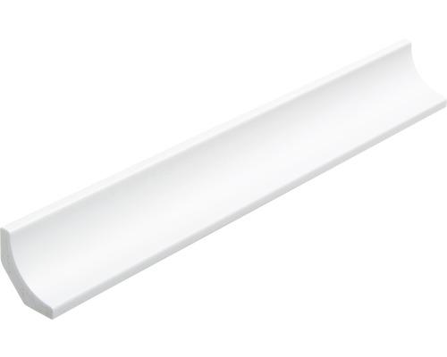 Moulure creuse en plastique blanche 27x27x2500mm