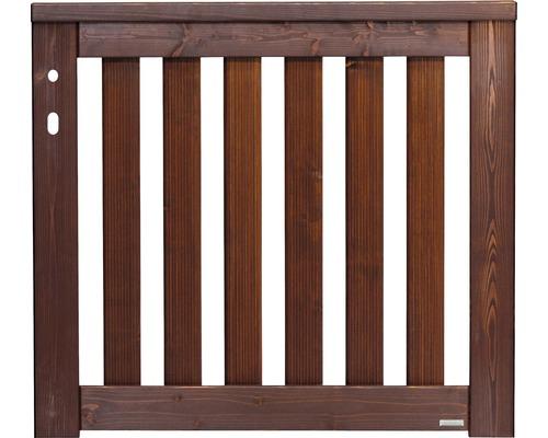 Portail simple Girona gauche 100x90 cm, brun