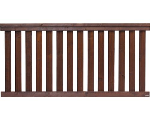 Clôture basse Girona 180x90 cm, brun