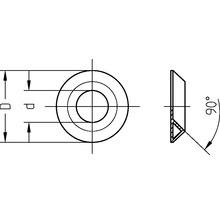 Rondelle de décoration 5x11 mm laiton nickelé, 50 unités-thumb-1