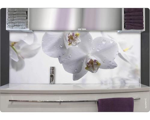 Panneau mural salle de bains mySPOTTI aqua Aqua orchid 90x45 cm
