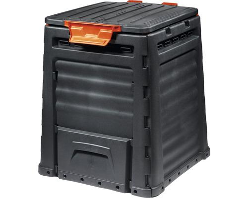 Silo de compostage en plastique 320 l, noir