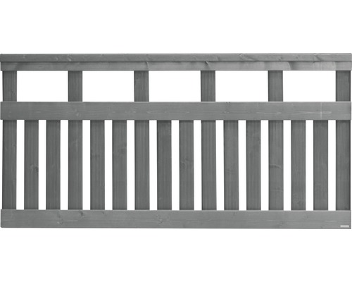 Clôture basse Elda 180x90 cm, gris