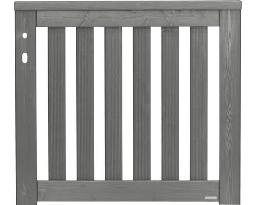 Portail simple Girona gauche 100x90 cm, gris