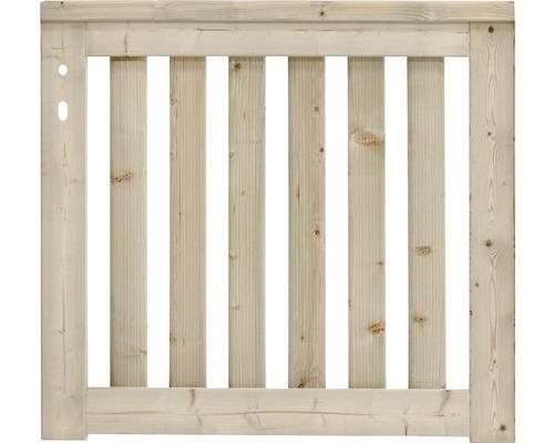 Portail simple Girona gauche 100x90 cm, nature
