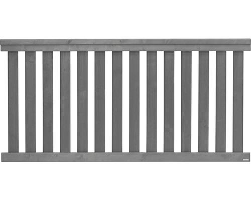 Clôture basse Girona 180x90 cm, gris