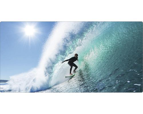 Panneau mural salle de bains mySPOTTI aqua Surfing USA 90x45 cm