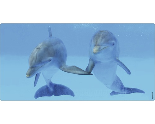 Panneau mural salle de bains mySPOTTI aqua Delphin 90x45 cm
