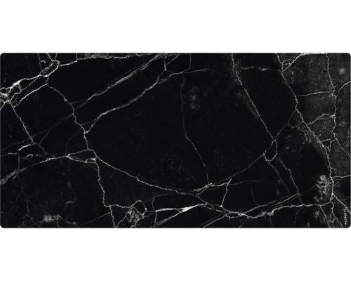 Panneau mural salle de bains mySPOTTI aqua Marbre noir 90x45 cm