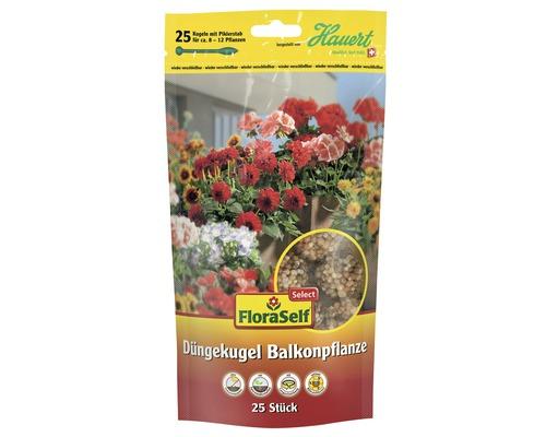 Boules d'engrais pour plantes de balcon FloraSelfSelect, 25 unités