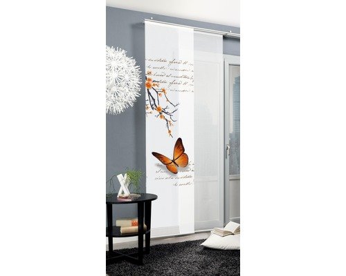 Schiebegardine Butterfly orange 60x245 cm