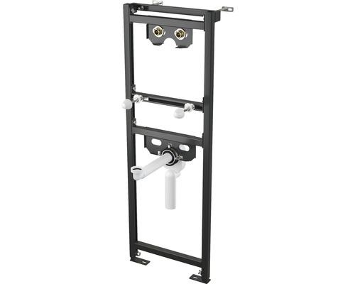 Bâti-support pour lavabo H : 1200 mm pour robinetterie murale et siphon intégré