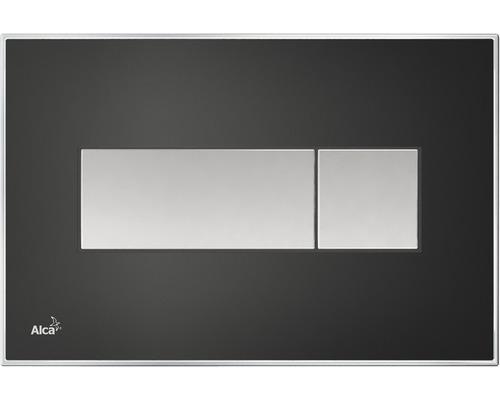 Plaque d''actionnement Komfort M1475-AEZ114 avec éclairage arc-en-ciel, noir mat/chromé
