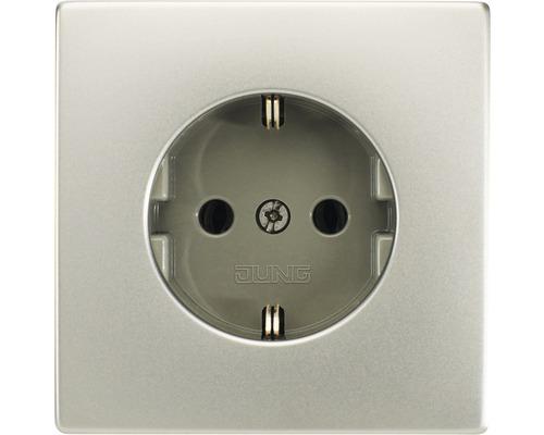 Insert de prise de courant Jung LS990/LS-Design ES1520 inox
