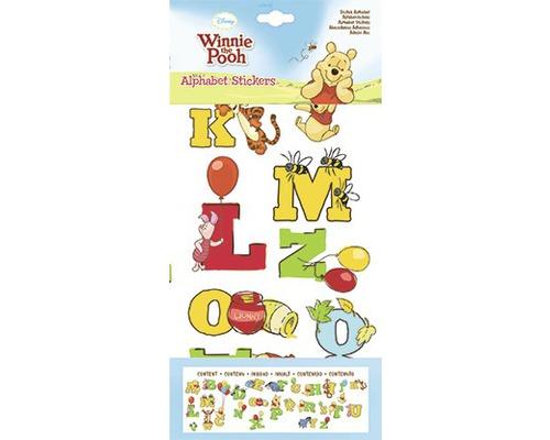 Sticker lettres Winnie l''Ourson 17.5 x 33.5 cm & 25 x 70 cm