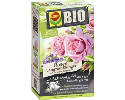 Engrais pour roses Bio Compo longue durée avec laine de mouton 100% ingrédients naturels 2 kg