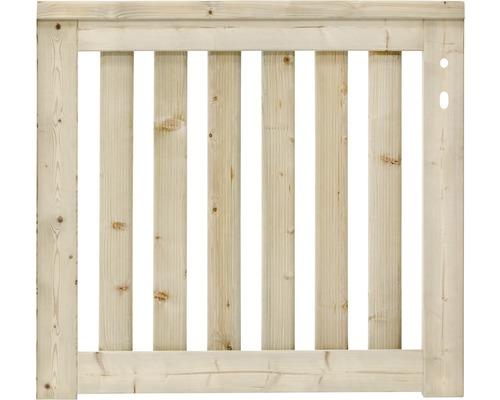 Portail simple Girona droite 100x90 cm, nature