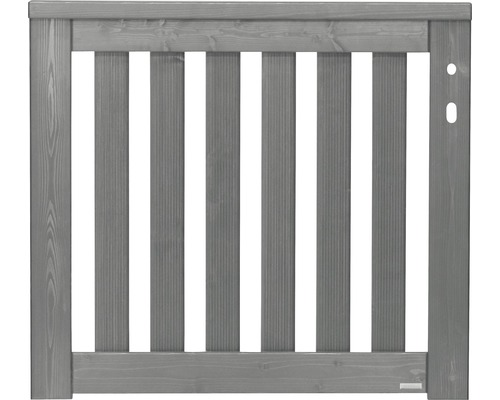 Portail simple Girona droite 100x90 cm, gris