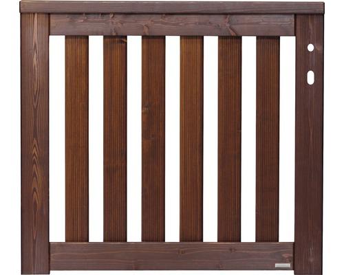 Portail simple Girona droite 100x90 cm, brun