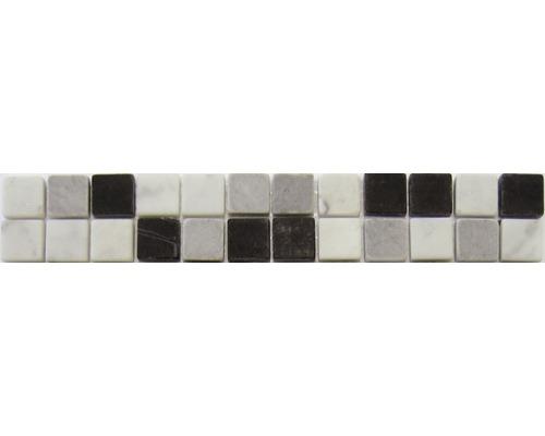 Bordure en pierre naturelle AM-50011 noir 4.8x29.8 cm