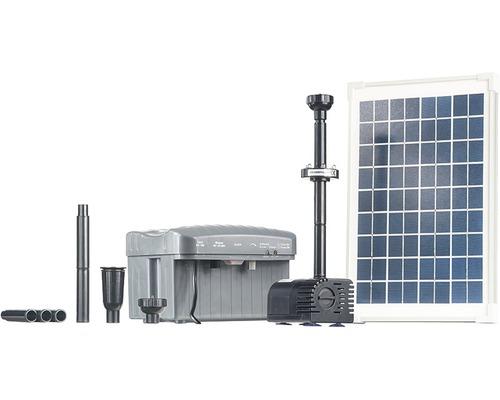 Ensemble de pompes de bassin solaire 750l/h avec éclairage LED