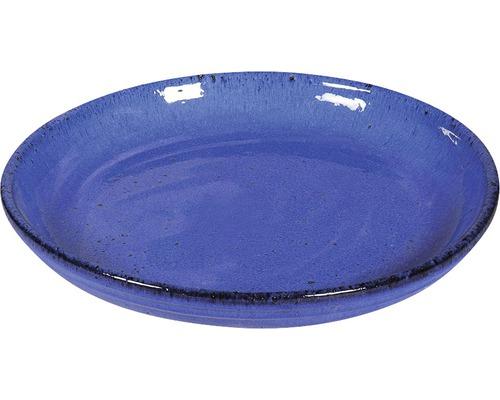 Soucoupe terre cuite vitrifiée Ø 25 cm, bleu