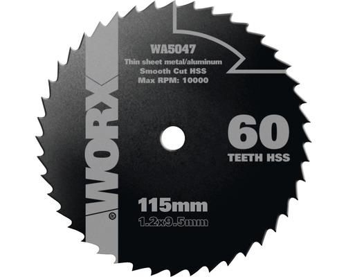 Lame de scie circulaire Ø 115 x 9mm Worx Z 60 dents W