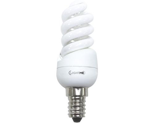 Ampoule à économie d'énergie LIGHTME Full Spiral E14/9W blanc chaud-0